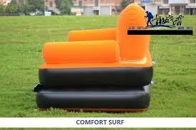 original bestway inflatable air sofa double seats foot rest pumper