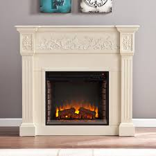 calvert electric fireplace mantel package in ivory fe9279