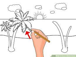 image led draw a beach scene step 4