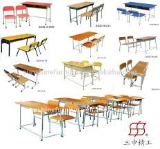 school desk and chair combo. Two Seater Wooden School Desk And Chair Combo