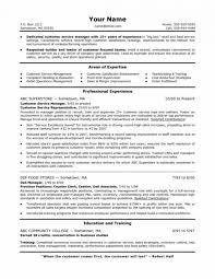resume sample customer service supervisor resume food service cover letter