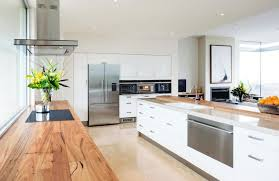 think about using butcher block countertops for a simple and clean aesthetic image fisher paykel