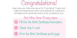 How To Make A Birth Certificate Birth Certificate The Ashton Drake Galleries Online