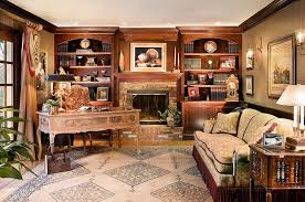 Office design ideas Modern Office Custombuilt Bookcases Surround The Fireplace In This Beautiful Home Office design Marlene Renoguide 40 Gorgeous Ideas For Sizzling Home Office With Fireplace