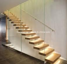 Simple Wood Stairs Design Hot Item Simple Floating Interior Wood Stairs Design Home Stairs