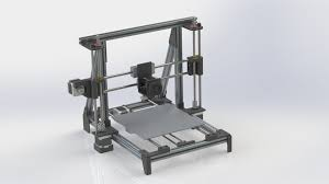 Prusa Cad I3 Model Grabcad Printer Frame Library Extrusion 3d Aluminum