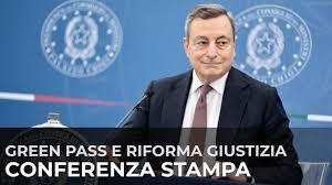 Conferenza stampa del Presidente Draghi e dei Ministri Cartabia e Speranza  - YouTube