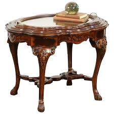 marquetry coffee table carved walnut bird marquetry vintage coffee table glass tray marquetry marble coffee table