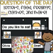 Question Of The Day Letters Food Clothes Feelings And Colors