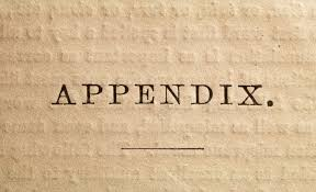 Definition Of Appendix In A Book Or Written Work