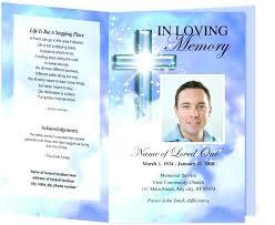 Funeral Program Templates Free Memorial Template Download