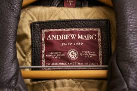 mens andrew marc leather coat jacket large 2 8 rear view 3 8 label
