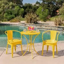 yellow patio furniture. Colmar 3pc Cast Iron Patio Bistro Set- Matte Yellow - Christopher Knight  Home : Target Yellow Patio Furniture