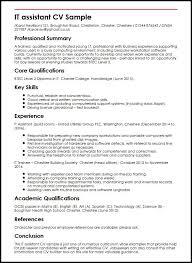 Resume Template It Resume Example Free Career Resume Template