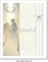 Free Art Print Of Wedding Invitation Card Design Decorative And