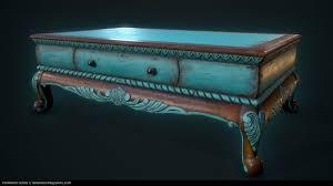 ArtStation - Old Coffee Table, Fernando Quinn | Old coffee tables, Coffee  table, Table