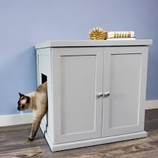 enclosed litter box furniture. The Refined Kitty Enclosed Wooden End Table With Litter Box Furniture
