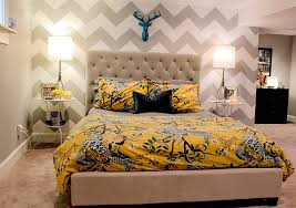 View In Gallery Chevron Wallpaper For The Bedroom Accent Wall Always Lends  A Touch Of Sophistication