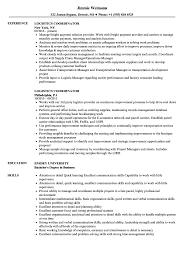 Logistics Coordinator Resume Samples Velvet Jobs