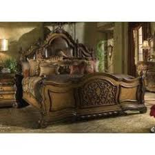 mediterranean style bedroom furniture. AICO Victoria Palace Canopy Bedroom Set In Light Espresso | . Mediterranean Style Furniture