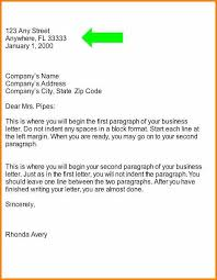 Business Letter Heading Format Beneficial Sample Simplistic 6 19330