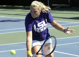 LSU freshman Ashley Murdock. Photo by: LSUsports.net, LSU Athletics Publications. Three Women's Tennis Players Head to Hoosier Classic - TJRXAXRUXLIIRTF.20060929194107