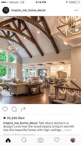 Love the wooden beams!Real Fit Housewife: Welcome to my Home: Our Little  Slice of Heaven Those beams, Restoration Hardware & wood floors