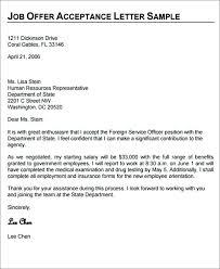 Offer Acceptance Email Sample Job Offer Acceptance Letter Format Sample Appointment Pdf