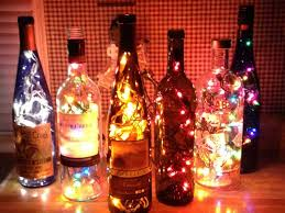 angels bottles with lights