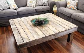 diy coffee table from pallets wooden