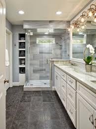 recessed lighting over shower. recessed lighting paired with modern globe sconces and a small window over the shower ensures an alwaysbright space g