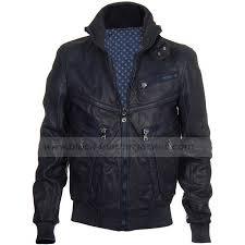 justin bieber multi zip navy blue er leather jacket