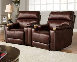 Theater Seating Group With  Wall Recliners And Cup Holders By - Swivel recliner chairs for living room 2