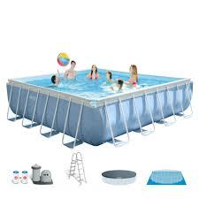 square above ground pool. Intex 16\u0027 X 48\ Square Above Ground Pool