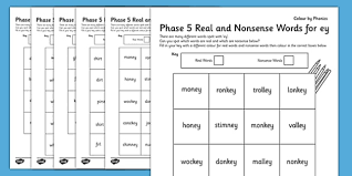 Teaching phase 5 phonics is an important factor in the national curriculum. Phase 5 Color By Phoneme Real And Nonsense Words Activity Pack