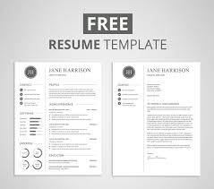 free resume template design free modern resume template that comes with matching cover letter