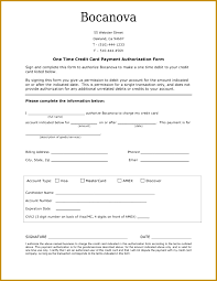 one time credit card payment authorization form in word and pdf 837647