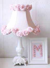 baby nursery lighting ideas. pink dupioni silk and roses table lamp vintage lighting kids nursery chandeliers baby ideas