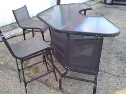 patio bar. Fine Patio Nice And Solid Patio Bar U0026 Stools For