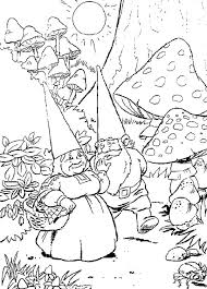 Summary Gnome In The Garden Coloring Page Free Printable