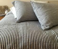 striped duvet cover handmade in