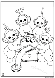 Small Picture Teletubbies coloring pages free Funnies Pinterest Free