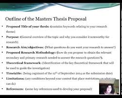 PhD Thesis proposal form