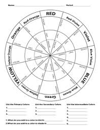 Free interactive exercises to practice online or download as pdf to print. Color Wheel Worksheet By Jewels Teachers Pay Teachers