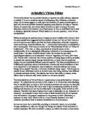 aristotle virtue ethics essay gcse religious studies  aristotle s virtue ethics
