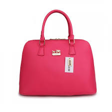 Coach City In Logo Large Fuchsia Satchels BKZ