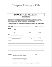 donation receipt forms printable donation receipt template