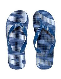 Buy Men Printed V Strap Flip Flops Blue Online At Nnnow Com