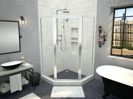redi neo neo angle shower pan with corner drain 36 d x 36 w