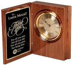 wood desk clock awards trophy engraving san go ca